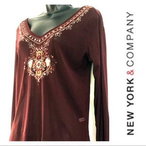 New York & Co. Embroidered Top